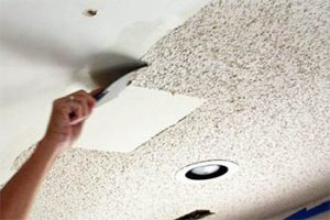 how to remove asbestos popcorn ceiling